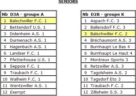 Groupes seniors 2008-2009